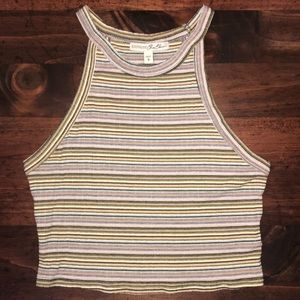 NWOT Express Striped Crop Top - Small